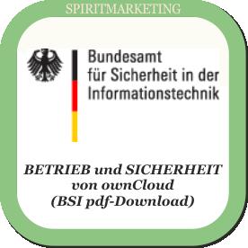 Spirit Marketing - BSI Broschüre ownCloud