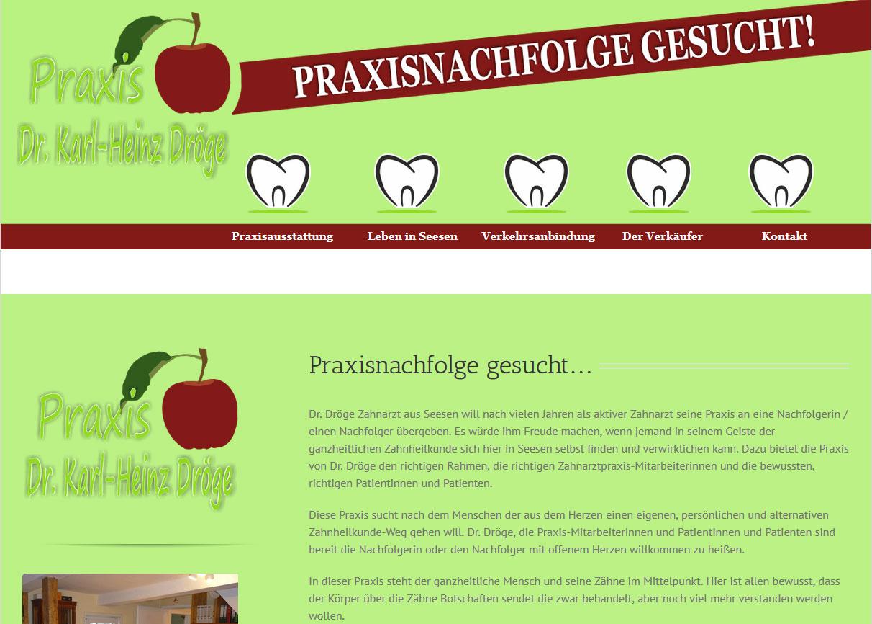 Zahnarztpraxis Dr. Dröge Webdesign von SPIRIT MARKETING