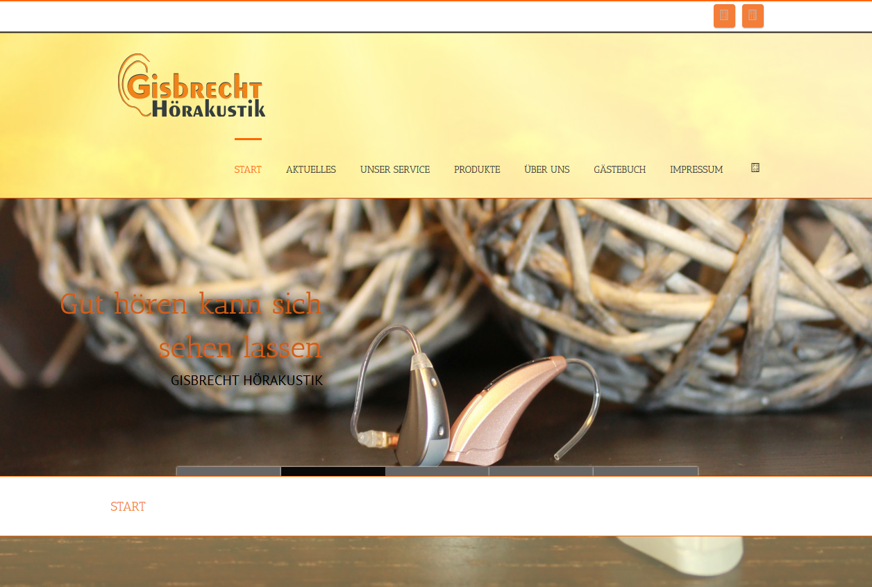 SPIRIT MARKETING - Spirit Webdesign - Gisbrecht Hoerakustik
