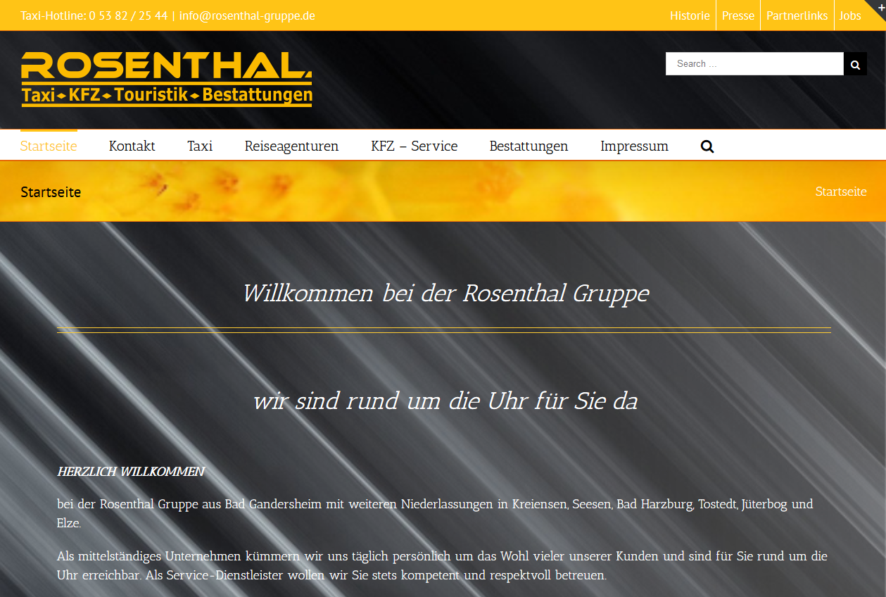 SPIRIT MARKETING - ROSENTHAL Gruppe Webprojekt