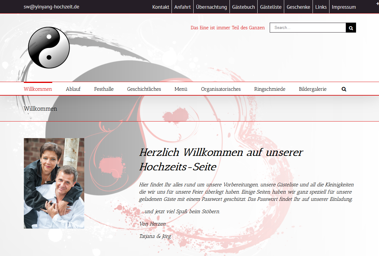 SPIRIT MARKETING - Spirit Webdesign - YinYang Hochzeit