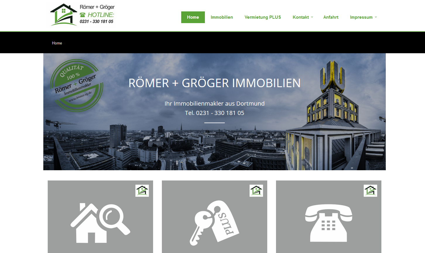 SPIRIT MARKETING Webreferenzen - Römer und Gröger Immobilienmakler