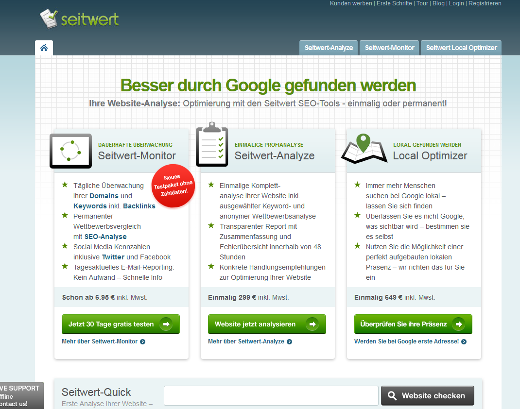 SPIRIT MARKETING - SEO Check - Seitwert