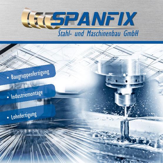 SPANFIX Stahl- und Maschinenbau GmbH aus Heusweiler mit neuer Imagebroschüre - Erstellt von SPIRIT MARKETING