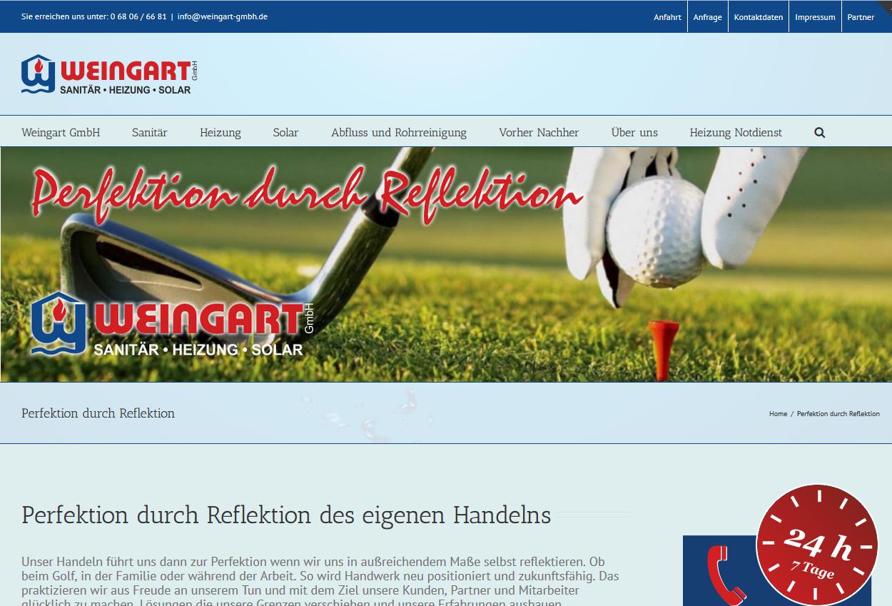 Perfektion durch Reflektion - Im Handwerk wie auf dem Golfplatz - Weingart GmbH Heusweiler