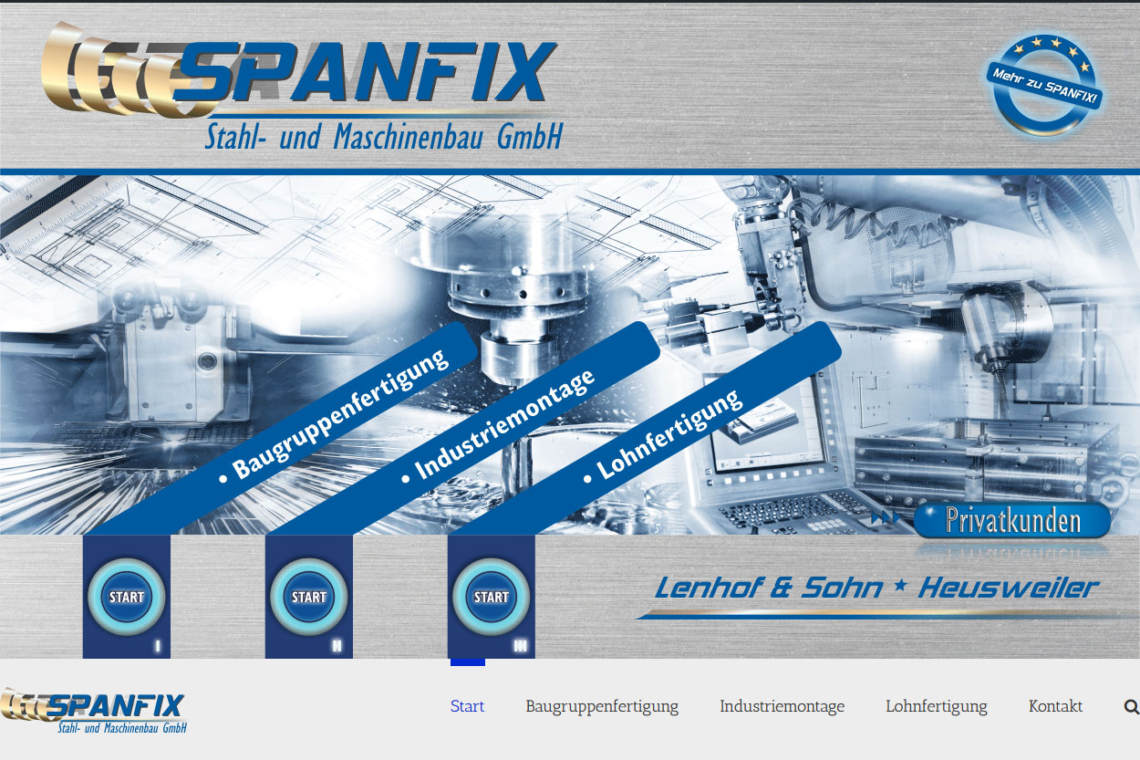 SPANFIX Heusweiler Firmenkundenseite