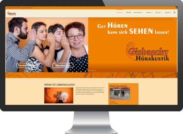 SPIRIT MARKETING - Gisbrecht Hörakustik Webdesign