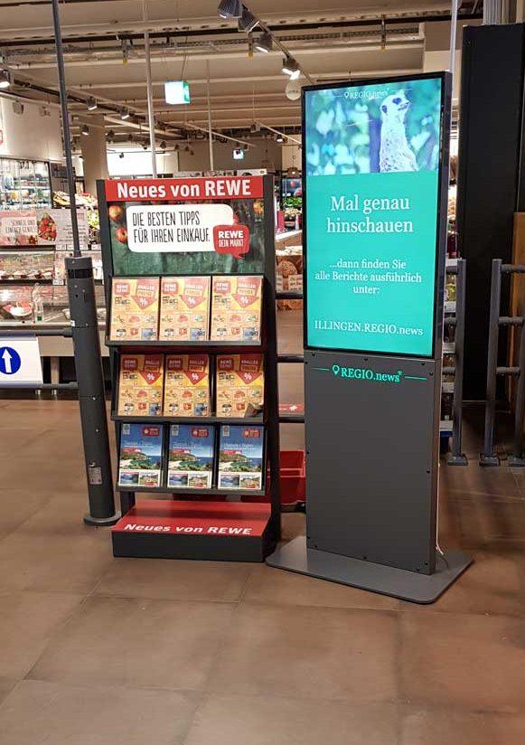 REGIO.news Terminal in Illingen - REWE Markt Andreas Straub