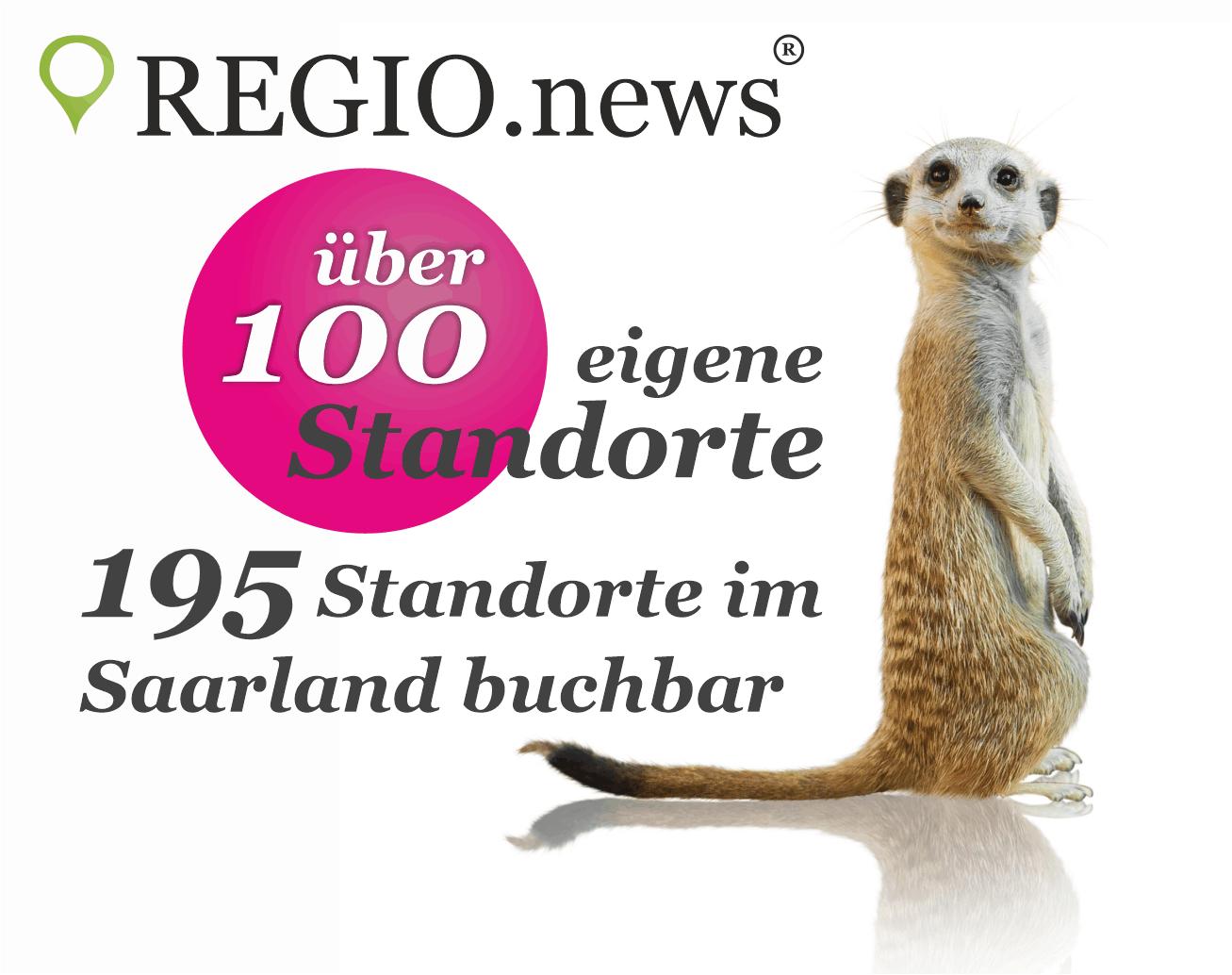 REGIO.news Teaser - über 100 eigene Standorte im Saarland